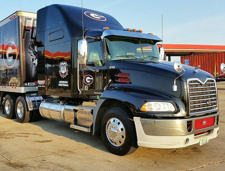 Black Georgia Football Truck Parked